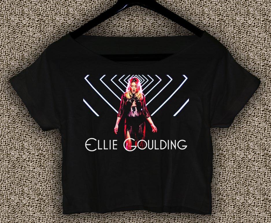 Ellie Goulding T-shirt Ellie Goulding Crop Top Ellie Goulding Still Falling For You Crop Tee EG#05