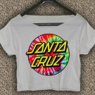 Santa Cruz Crus Skateboards T-shirt Santa Cruz Crus Crop Top Santa Cruz Crus Skateboards Crop Tee 3
