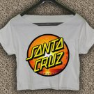 Santa Cruz Crus Skateboards T-shirt Santa Cruz Crus Crop Top Santa Cruz Crus Skateboards Crop Tee 4