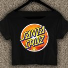 Santa Cruz Crus Skateboards T-shirt Santa Cruz Crus Crop Top Santa Cruz Crus Skateboards Crop Tee 5