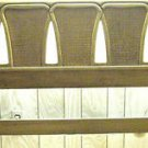 QUEEN BED BROWN WOOD HEADBOARD Iron Metal Frame Vintage 1960s: LOOKS NEW