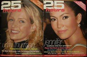 25 HOURS MAGAZINE LOT Oct 2004-May 2005 JLo, LiLo, Halle, Sarah Jessica, Mischa