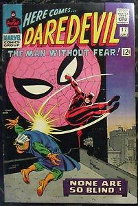 DAREDEVIL# 17 June 1966 2nd John Romita Spider-Man Romita Cover/Art KEY: 8.0 VF