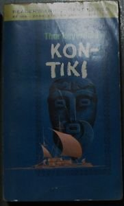 KON-TIKI by Thor Heyerdahl PAPERBACK BOOK WASHINGTON SQUARE PRESS Oct 1966: VG