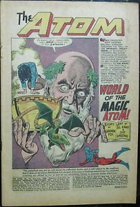 THE ATOM# 19 Jun-Jul 1965 2nd Zatanna App Gil Kane Art COVERLESS Silver Age KEY