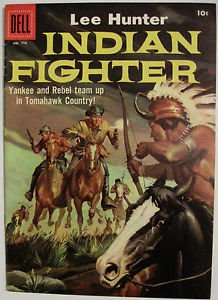 FOUR COLOR# 779 Mar 1957 LEE HUNTER INDIAN FIGHTER Dell Silver Age: 9.2 NM-