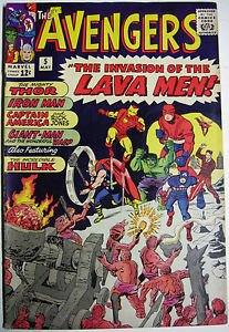 AVENGERS# 5 May 1964 1st Lava Men Hulk App Kirby Cov/Art Silver Age KEY: 7.5 VF-