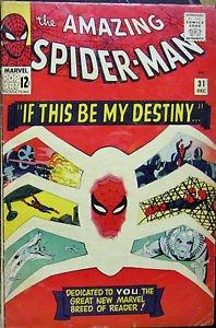 AMAZING SPIDER-MAN# 31 Dec 1965 1st Gwen Stacy, Harry Osborne SA KEY: 5.5 FN-