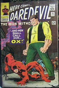 DAREDEVIL# 15 Apr 1966 1st Ox in Title John Romita Cov/Art Silver Age: 7.0 FN-VF