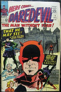 DAREDEVIL# 9 Aug 1965 1st Klaus Kruger Wally Wood Covr/Art Silver KEY: 7.0 FN-VF