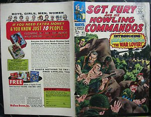 SGT FURY# 45 Aug 1967 John Severin Cover ORIGINAL FULL COVERS ONLY!! Silver Age