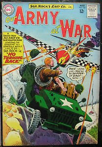 OUR ARMY AT WAR# 140 Mar 1964 3rd All Sgt Rock Kubert Cov/Art Silver: 7.0 FN-VF