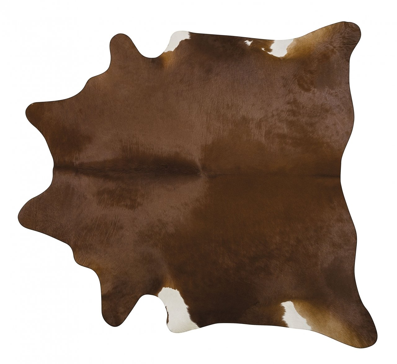 Dark Brown Brazilian Cowhide Area Rus- Size LARGE