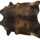 Dark Brindle Brazilian Cowhide Rug Cow Hide Area Rugs - Size XL