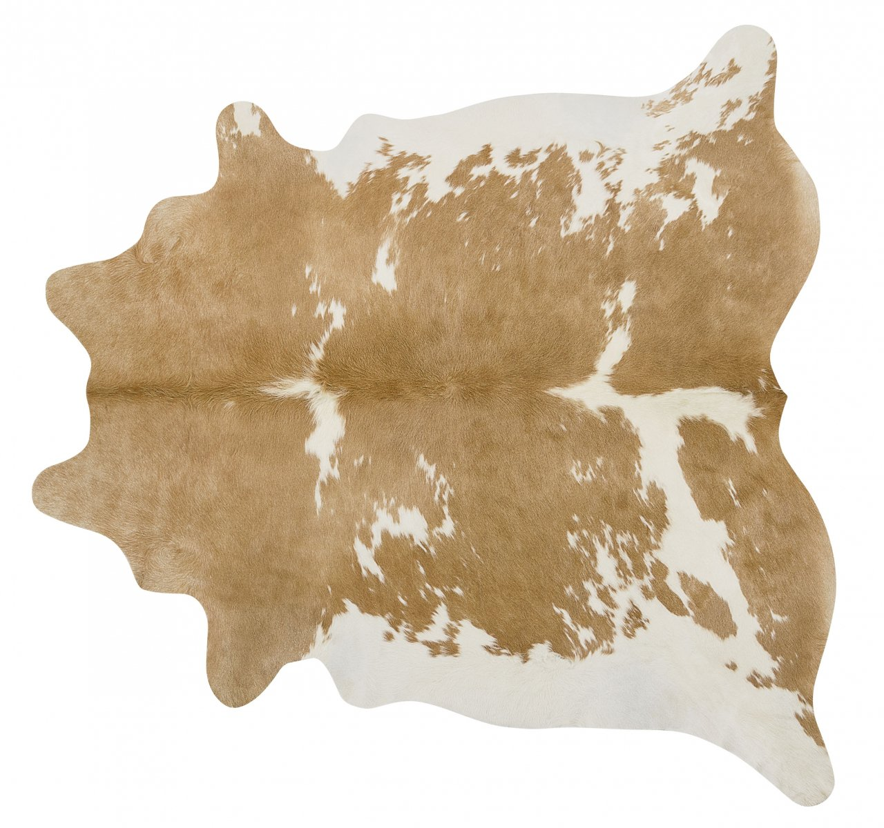 Palomino and White Brazilian Cowhide Rug Cow Hide Area Rugs Leather - Size XL