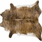 Brindle White Belly Brazilian Cowhide Rug Cow Hide Area Rugs - Size XXL