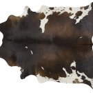 Chocolate and White Brazilian Cowhide Rug Cow Hide Area Rugs  - Size LARGE