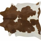 Brown and White Brazilian Cowhide Rug Cow Hide Area Rugs - Size XL