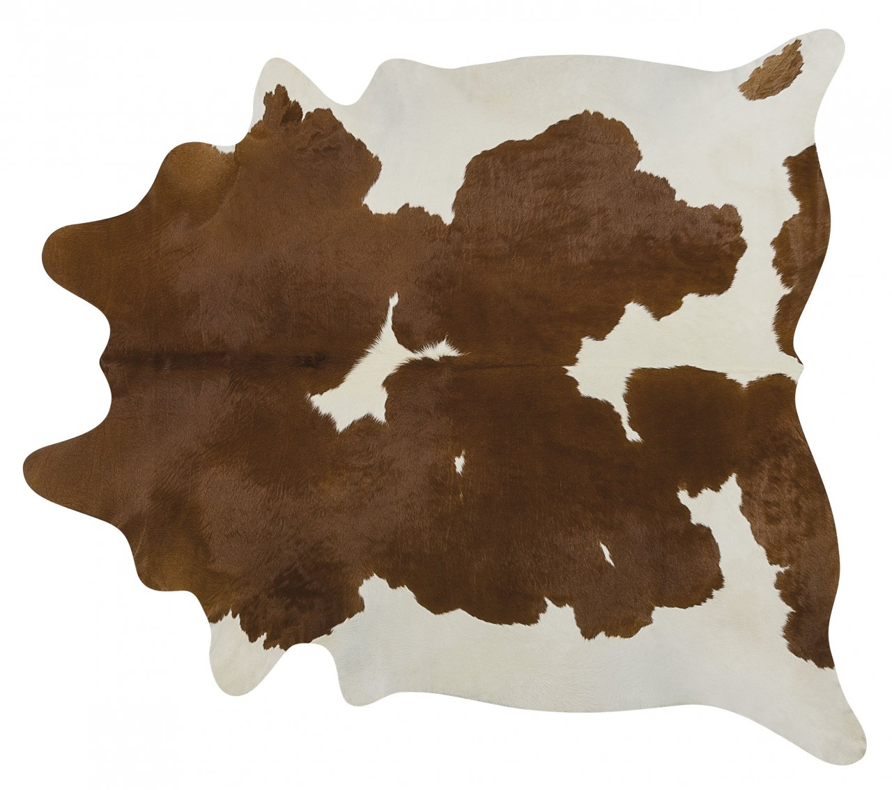 Brown and White Brazilian Cowhide Rug Cow Hide Area Rugs - Size LARGE