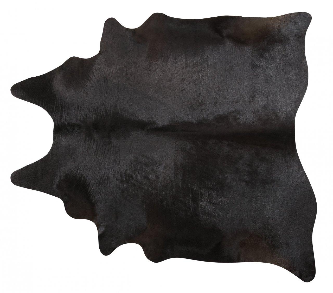 Black Brazilian Cowhide Rug Cow Hide Area Rugs - Size XXL