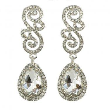 Chandelier Earrings - Drop & Dangle Earrings - Filigree Earrings - Silver