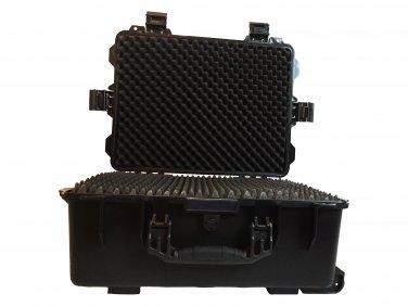 A gun ammo case pluck foam BB-5553 dust and waterproof storage black