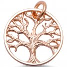 Sterling Silver Tree Of Life Charm Spiritual Distress with Chain Pendant