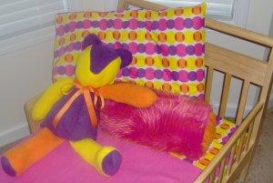Diva Dots Toddler Little Girl 7 Piece Bedset