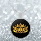 Golden Lotus Flower - Necklace