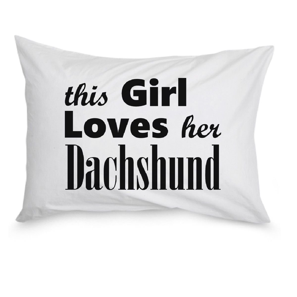 Dachshund - Pillow Case - Dog Gifts For Women - Gifts for Dog Lovers