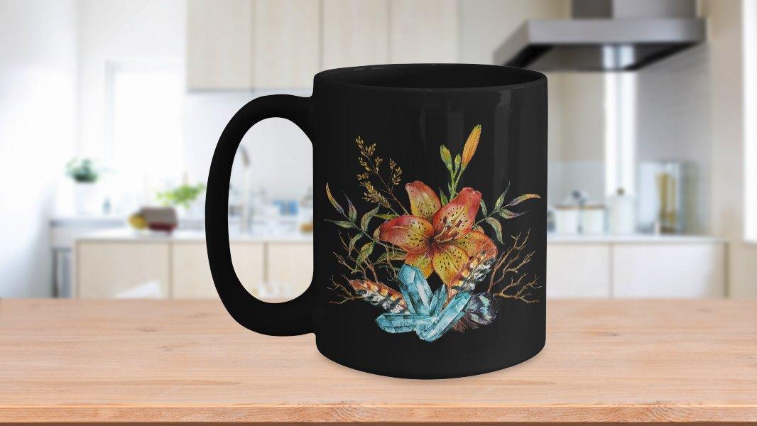 Tiger Lily Bouquet - 15oz Mug v2