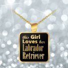 Labrador Retriever - Gold Plated Necklace - Dog Gifts For Women Dog Lovers