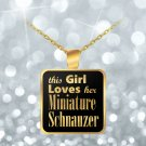 Miniature Schnauzer - Gold Plated Necklace - Dog Gifts For Women Dog Lovers