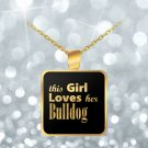 Bulldog - Gold Plated Necklace - Dog Gifts For Women - Gifts for Dog Lovers