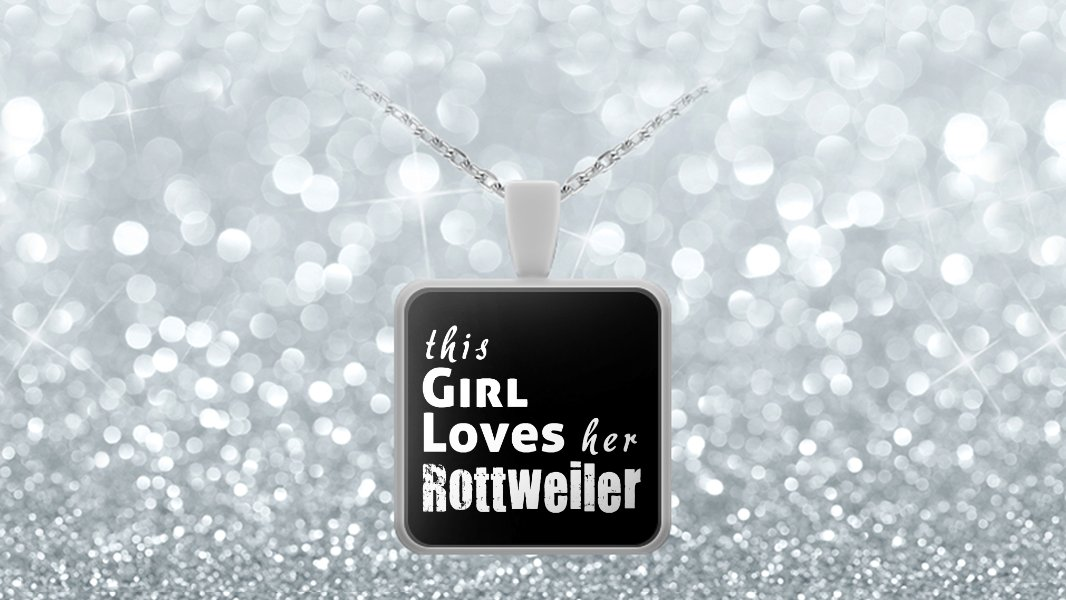 Rottweiler - Necklace - Dog Gifts For Women - Gifts for Dog Lovers
