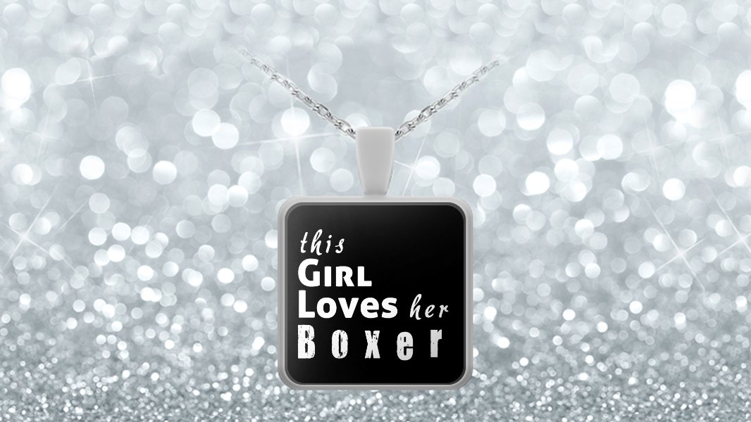 Boxer - Necklace - Dog Gifts For Women - Gifts for Dog Lovers