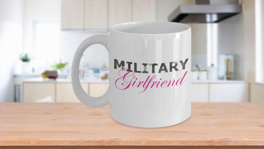 Military Girlfriend - 11oz Mug - White Ceramic Novelty Coffee / Tea Cup / Mug