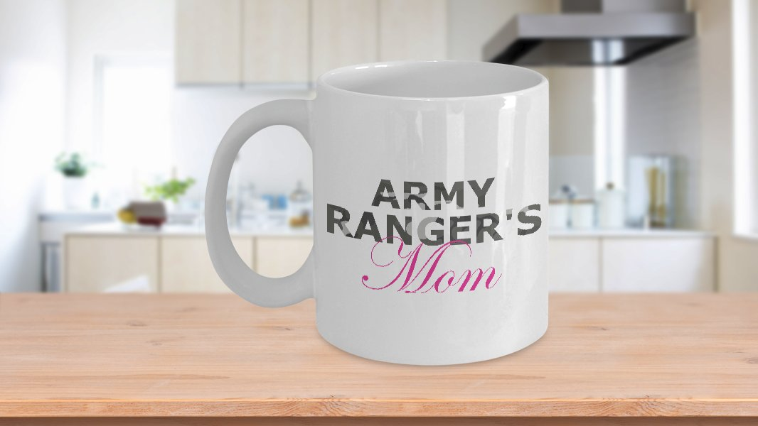 Army Ranger's Mom - 11oz Mug - White Ceramic Novelty Coffee / Tea Cup / Mug