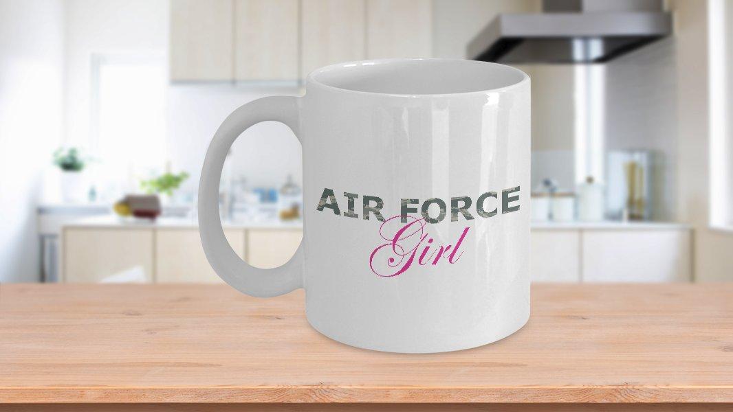 Air Force Girl - 11oz Mug - White Ceramic Novelty Coffee / Tea Cup / Mug