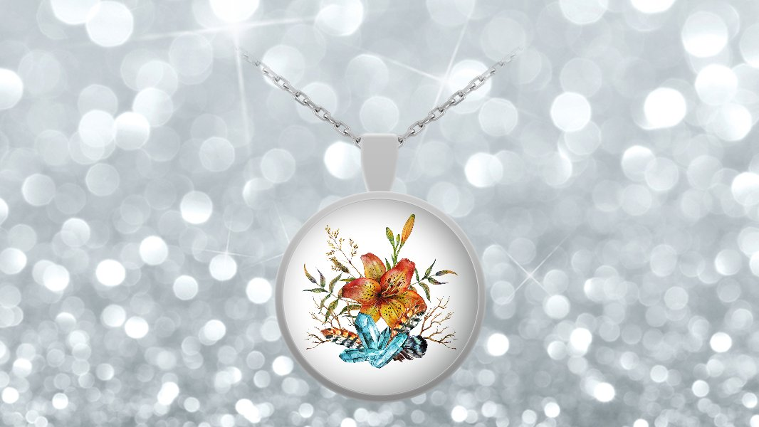 Tiger Lily Bouquet - Necklace