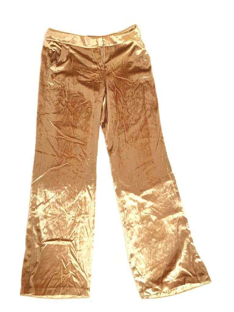 Gold velvet pants GUESS