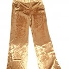 Gold velvet pants GUESS