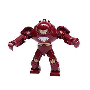 Marvel Super Hero Avengers Big Minifigure Red Iron Man Blocks Figures Toys