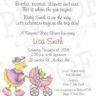 Mother Duck * Baby Shower Invitation/Announcement (#Duck01)
