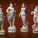 Chess set. Gift for men. Elite gift. Status. Rome. Antique. Napoleon. Russia. India. Mammoth bone.
