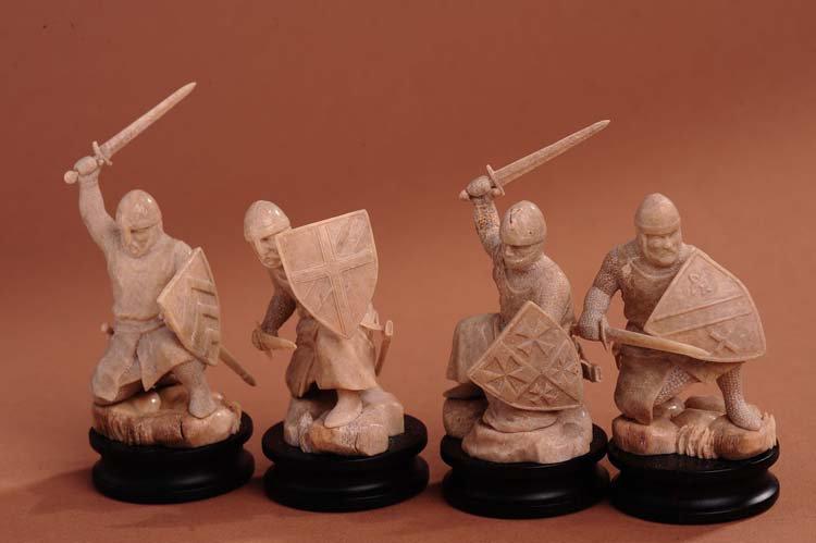 Chess. Gift for men. Elite. Status. Chinese. Enagland. Mammoth bone tusk. Silver. Gold.