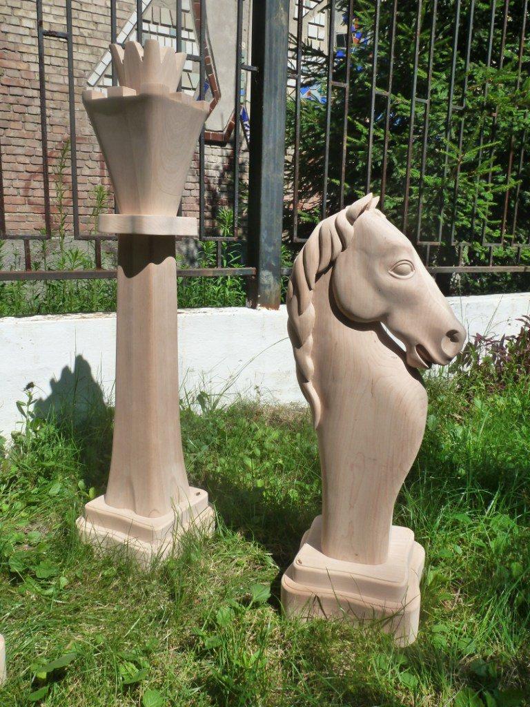 Wooden chess. Garden decor. Gift idea, Wood. Carving. elite present, gift. present. men's gift.