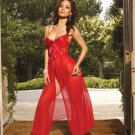ELEGANT LONG SATIN GOWN & PANTY (SIZE LARGE 37-40)