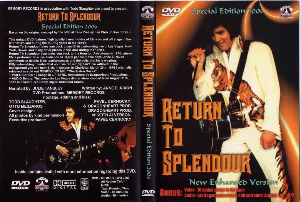 Elvis - Return To Splendor DVD