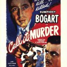 Call It Murder (1934) - Humphrey Bogart DVD